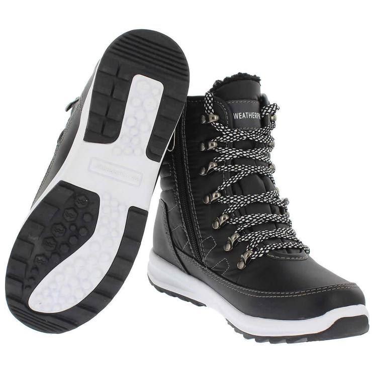 Alexa Weatherproof Ladies Hi-Top Trainers Boots Water Repellent Zip Walking