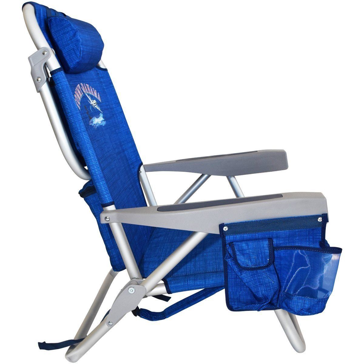 camping chairs cooler beach deck folding tommy recliner chair bahama backpack itm