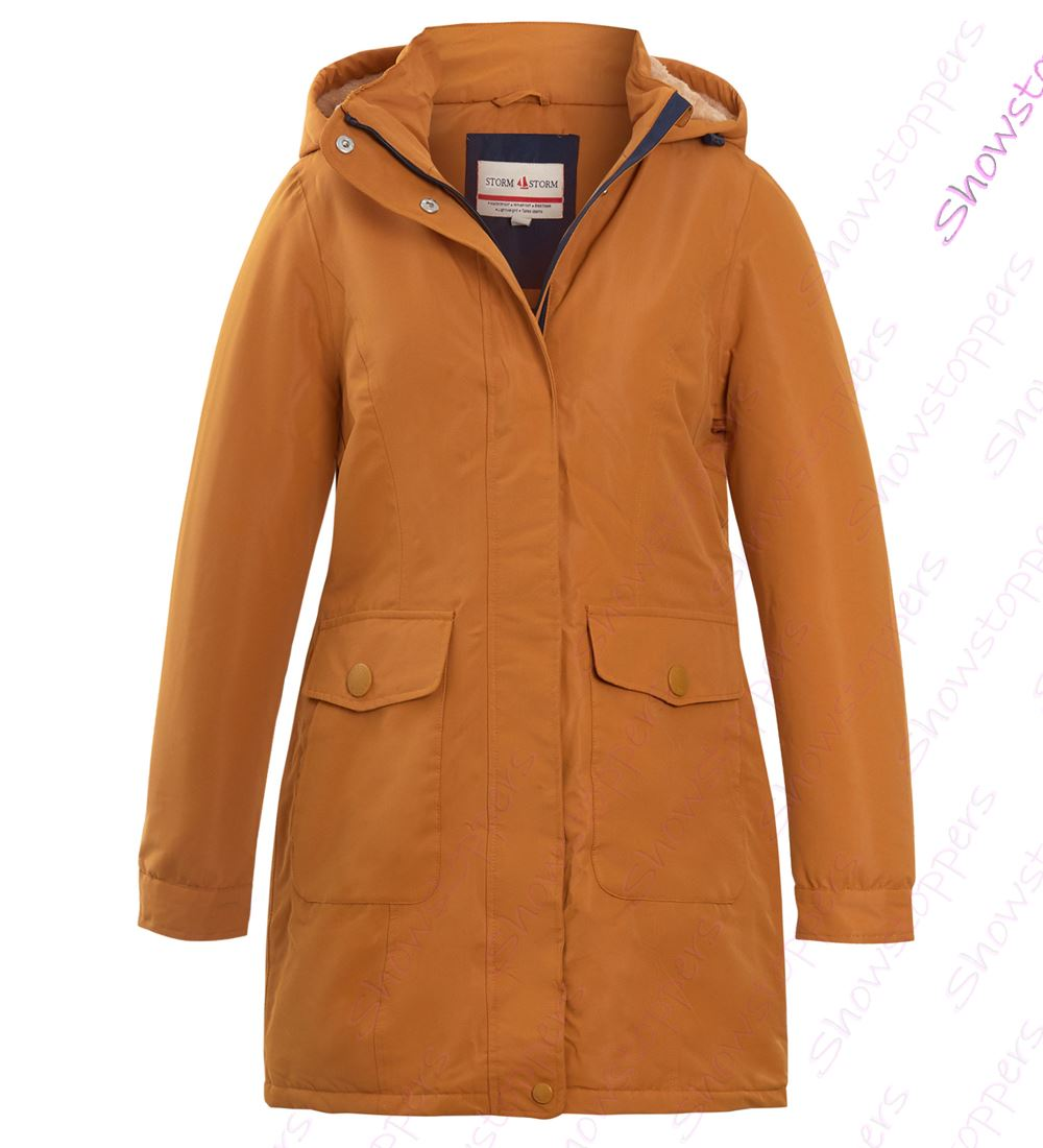 Womens Showerproof Windproof Padded Coat Hooded Parka Size 10 to 18