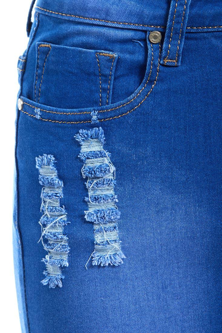 Womens-Stretch-Denim-Skirt-Ladies-Pencil-Ripped-skirts-NEW-Size-8-10-12-14-Blue miniatuur 8