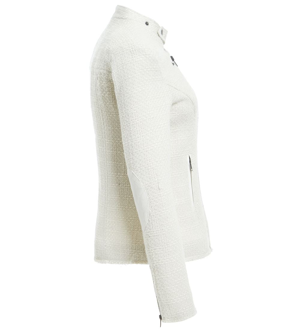 Womens-Wool-Blend-Blazer-Jacket-Ladies-Coat-Size-8-10-12-14-16-Black-New thumbnail 8