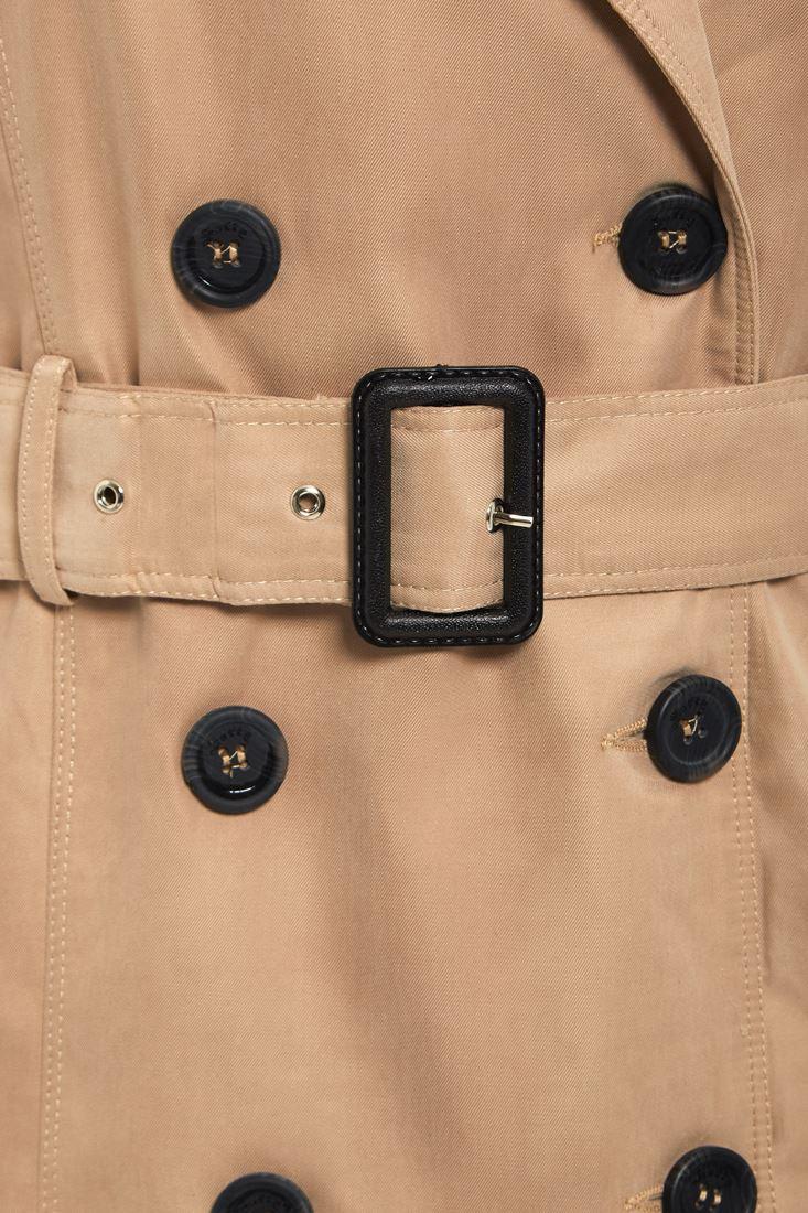 Womens-Trench-Coat-Ladies-Mac-Jacket-Size-8-10-12-14-16-Beige-Salmon-Blue miniatuur 5