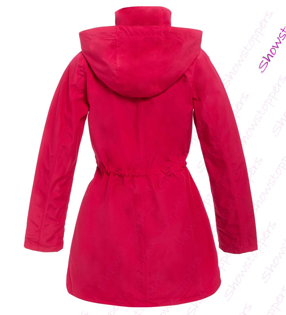various kinds of unbeatable price elegant appearance Details about Womens Waterproof Raincoat Ladies Rain Mac Coat Size 10 12 14  16 18 Pink