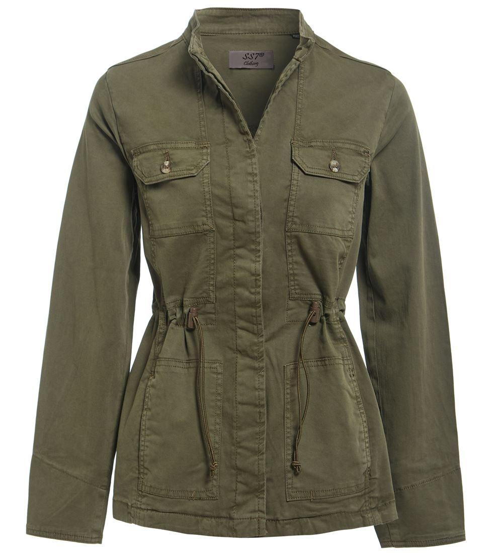 Plus-Size-10-32-Womens-Trench-Coat-Ladies-Utility-Jacket-Stone-Khaki-Navy-Rose