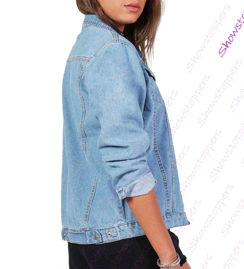 a5bc4336b5d7f NEW Plus Size 16 18 20 22 24 26 Denim Jacket Women Jean Jackets ...