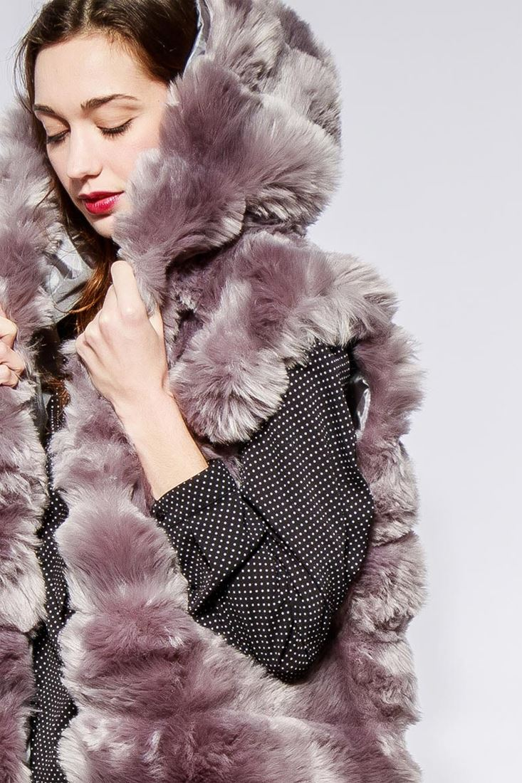 Womens-Faux-Fur-Gilet-Jacket-Bodywarmer-Soft-Fluffy-Waistcoat-Size-8-10-12-14 thumbnail 6