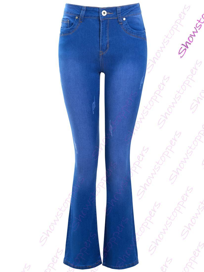 New Womens Blue Bootcut NEXT Jeans Size 8 Long