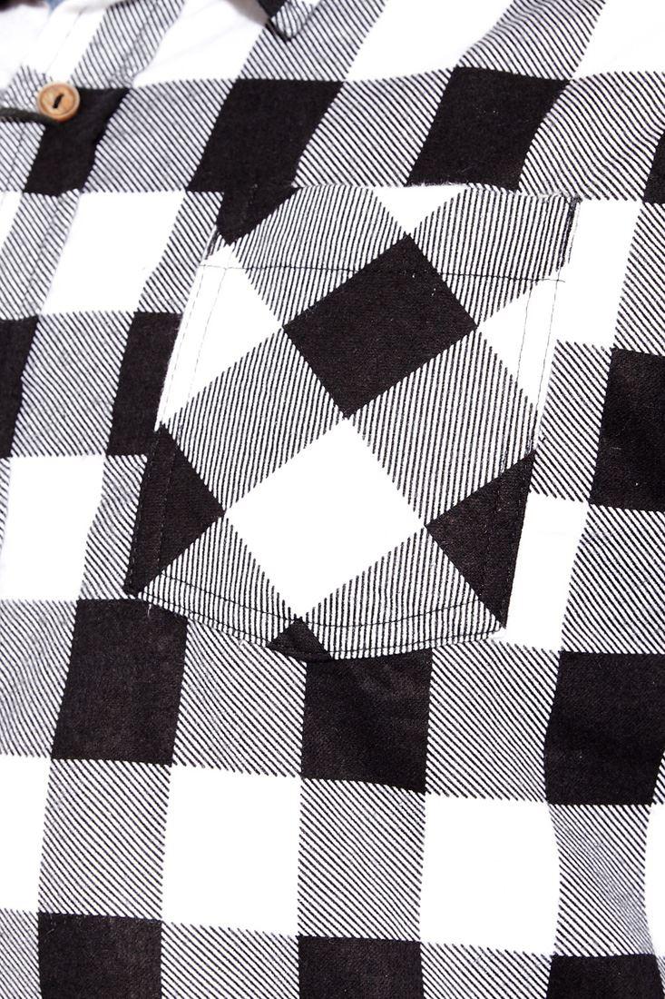 Mens-Check-Shirt-Collard-Cotton-Casual-Size-S-M-L-XL-White-Red-Blue-Black thumbnail 8