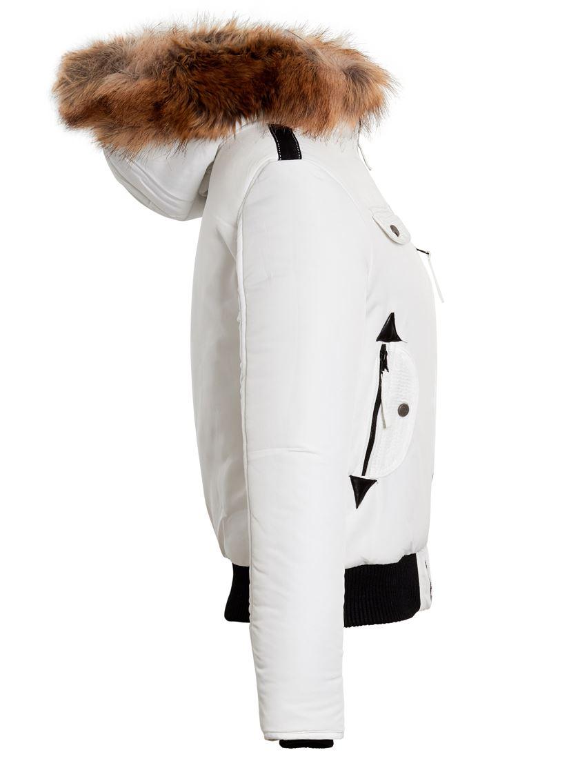 Womens Puffer Jacket Faux Fur Hooded Parka Coat Size 8 10 ...