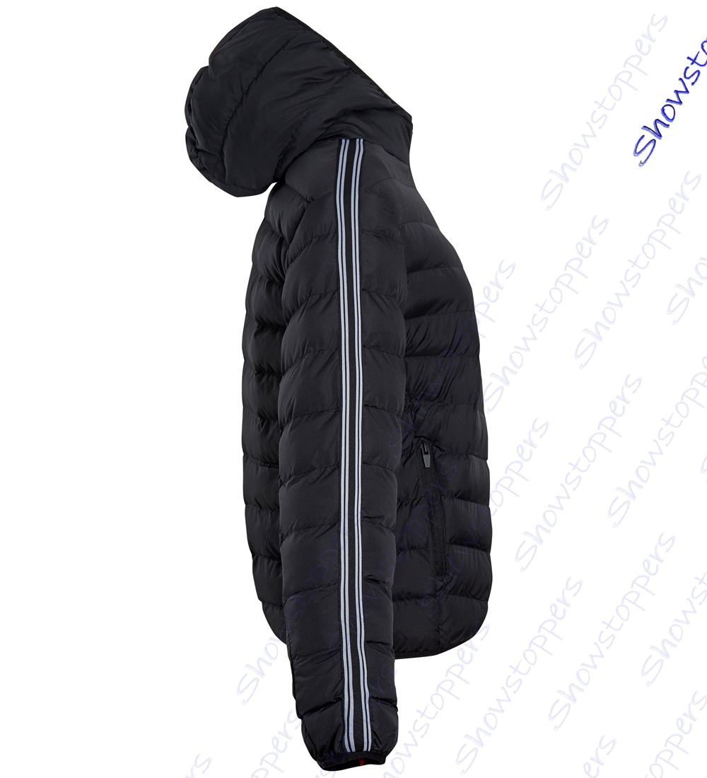 Boys-Padded-Coat-Quilted-Lined-Hooded-Jacket-Age-7-8-9-10-11-12-13-Black thumbnail 4