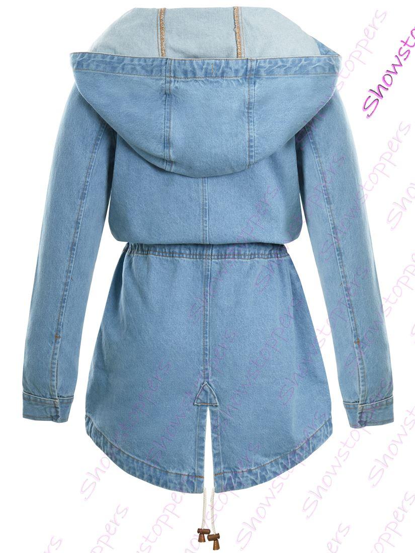 promo code 2555e 77fc1 Dettagli su Da Donna Taglia 14 12 10 8 16 Cappotto Giacca di jeans donna  Jean Parka Blu- mostra il titolo originale