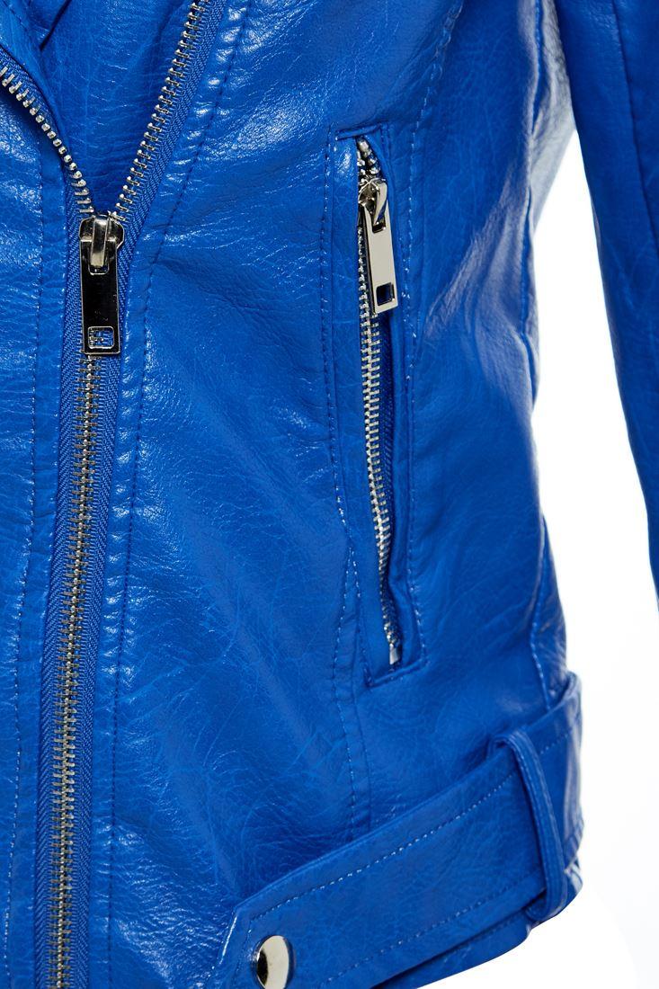 Womens Faux Leather Biker Jacket Ladies Jersey Hood Size 8 10 12 14