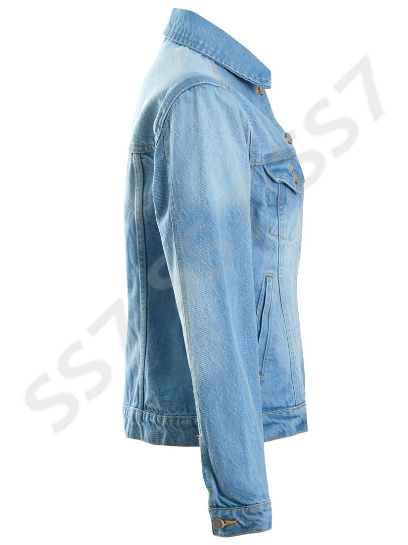 Womens Size 18 20 22 24 Relaxed Fit Denim Jacket Ladies Jean Jackets Blue
