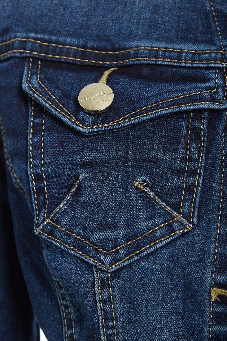 Womens-Size-14-16-18-20-Stretch-Denim-Jacket-Ladies-Indigo-Jean-Jackets-Blue thumbnail 5