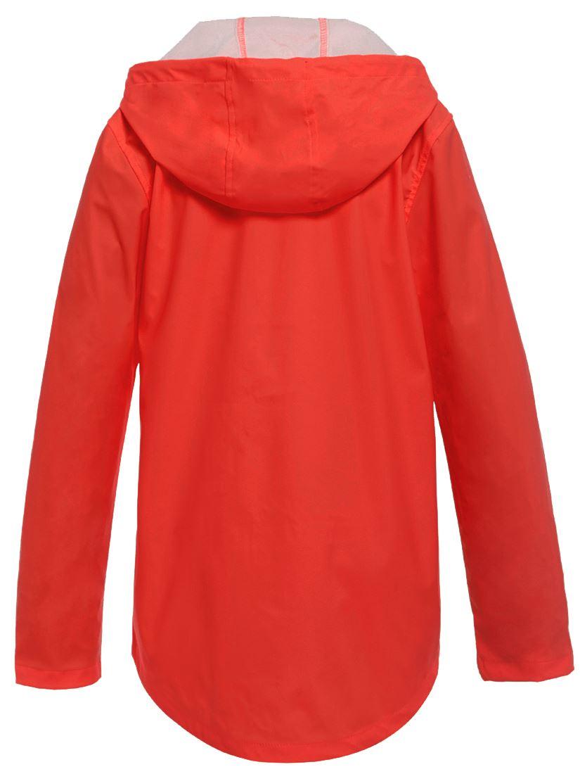 Womens-Waterproof-Windproof-Raincoat-Hooded-Jacket-Red-Size-14-16-8-10-12-NEW thumbnail 3