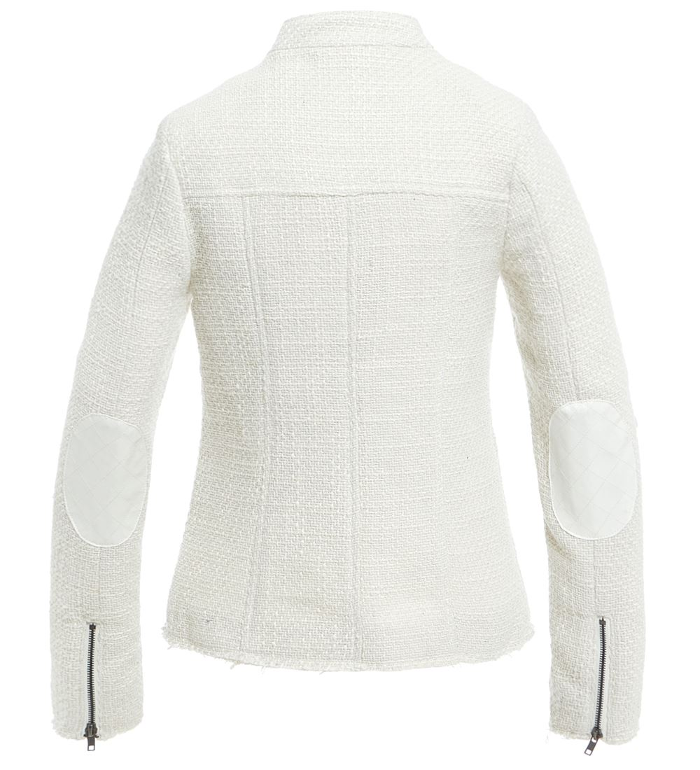 Womens-Wool-Blend-Blazer-Jacket-Ladies-Coat-Size-8-10-12-14-16-Black-New thumbnail 7