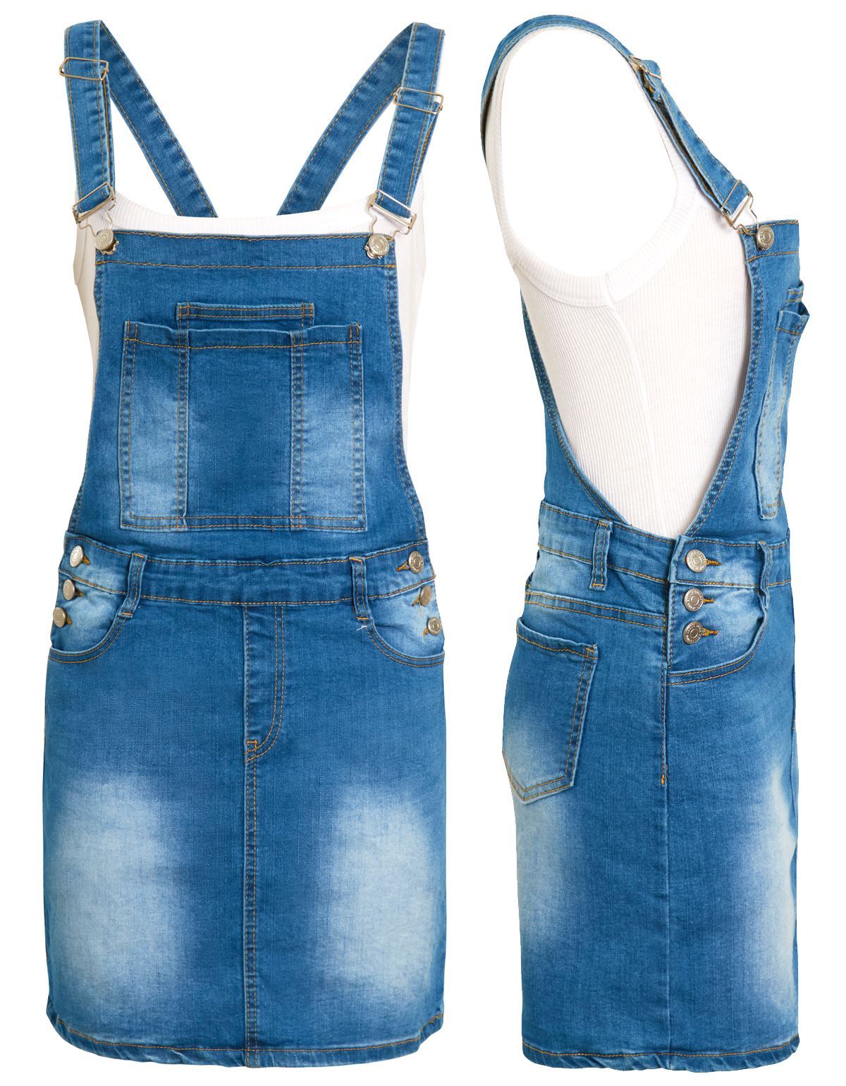 Ladies//Womens Denim Embroidered Dress With Cord Fastening 8 10 12 14