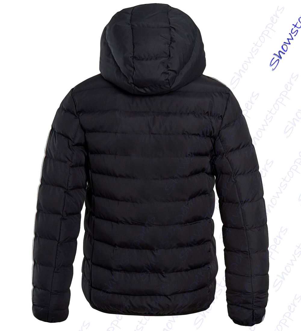 Boys-Padded-Coat-Quilted-Lined-Hooded-Jacket-Age-7-8-9-10-11-12-13-Black thumbnail 3