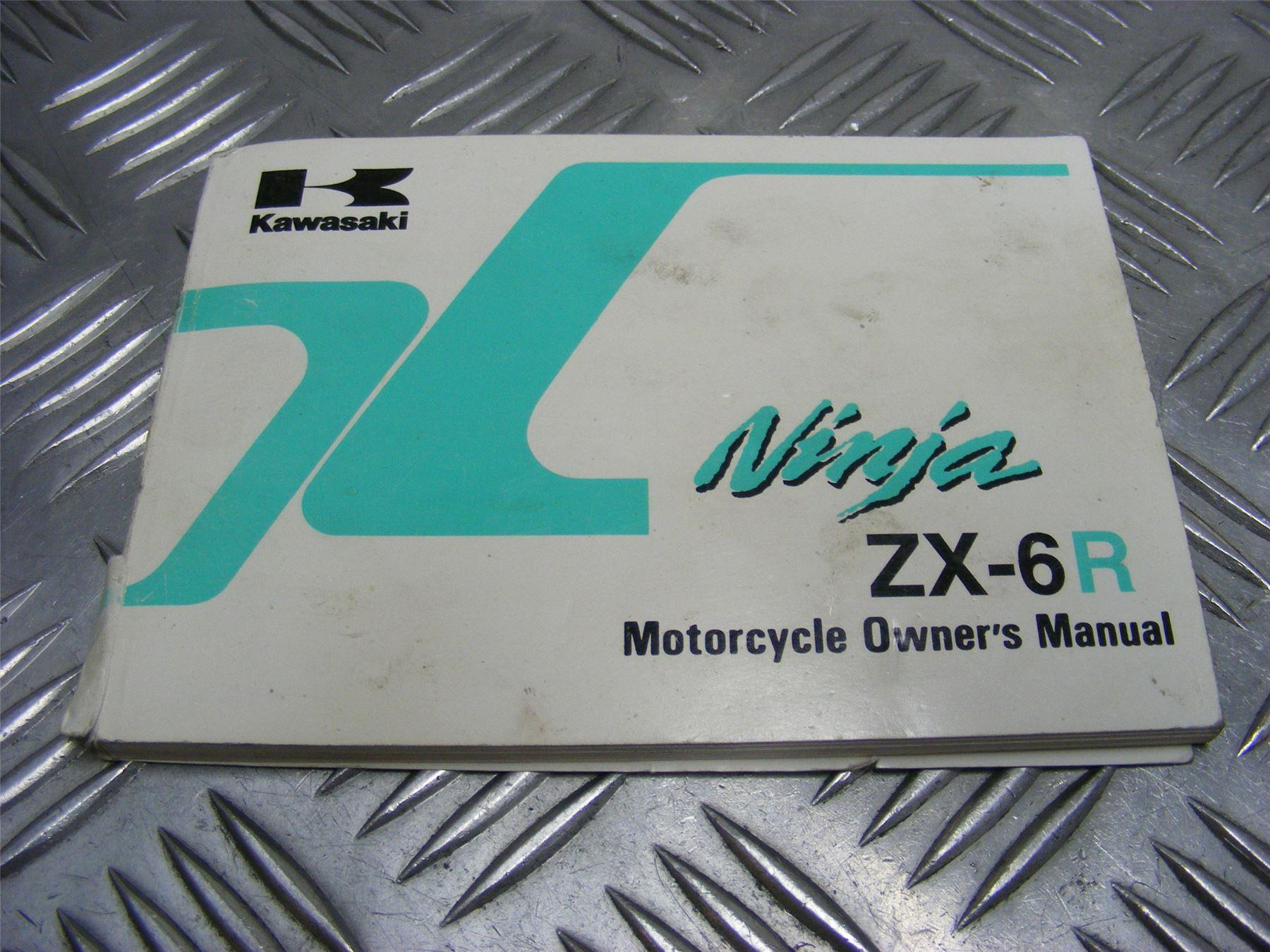 Kawasaki ZX6R ZX-6R Ninja G2 1999 Owners Manual Handbook #198