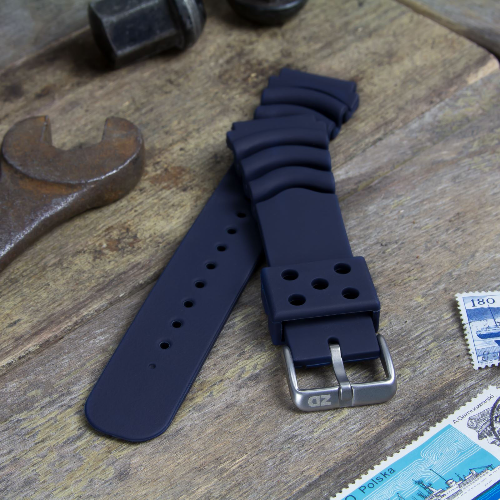 72c0d64cf61 ZULUDIVER PU Rubber Sports Diver Watch Strap for SEIKO Dark Blue 20mm.  About this product. Picture 1 of 5  Picture 2 of 5  Picture 3 of 5 ...