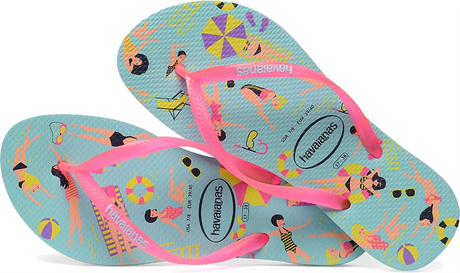 f0f3fbe83b0c71 Havaianas Women Slim Cool Ice Blue Flip Flops Summer Shoes All Sizes ...