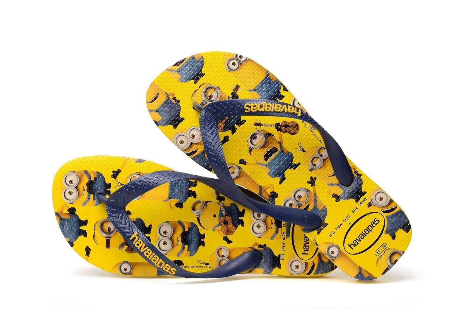 Havaianas Disney Youth Minions Print Flip Flop Sandals