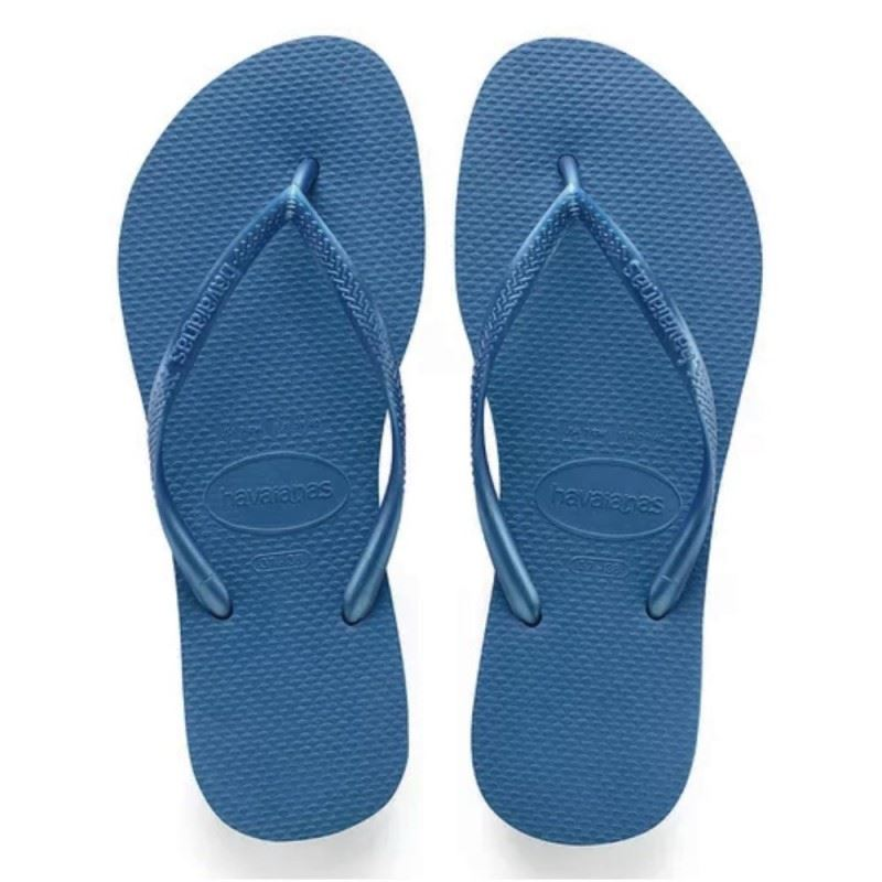 fa7691cab14d Havaianas Slim Steel Blue Women s Summer Flip Flops