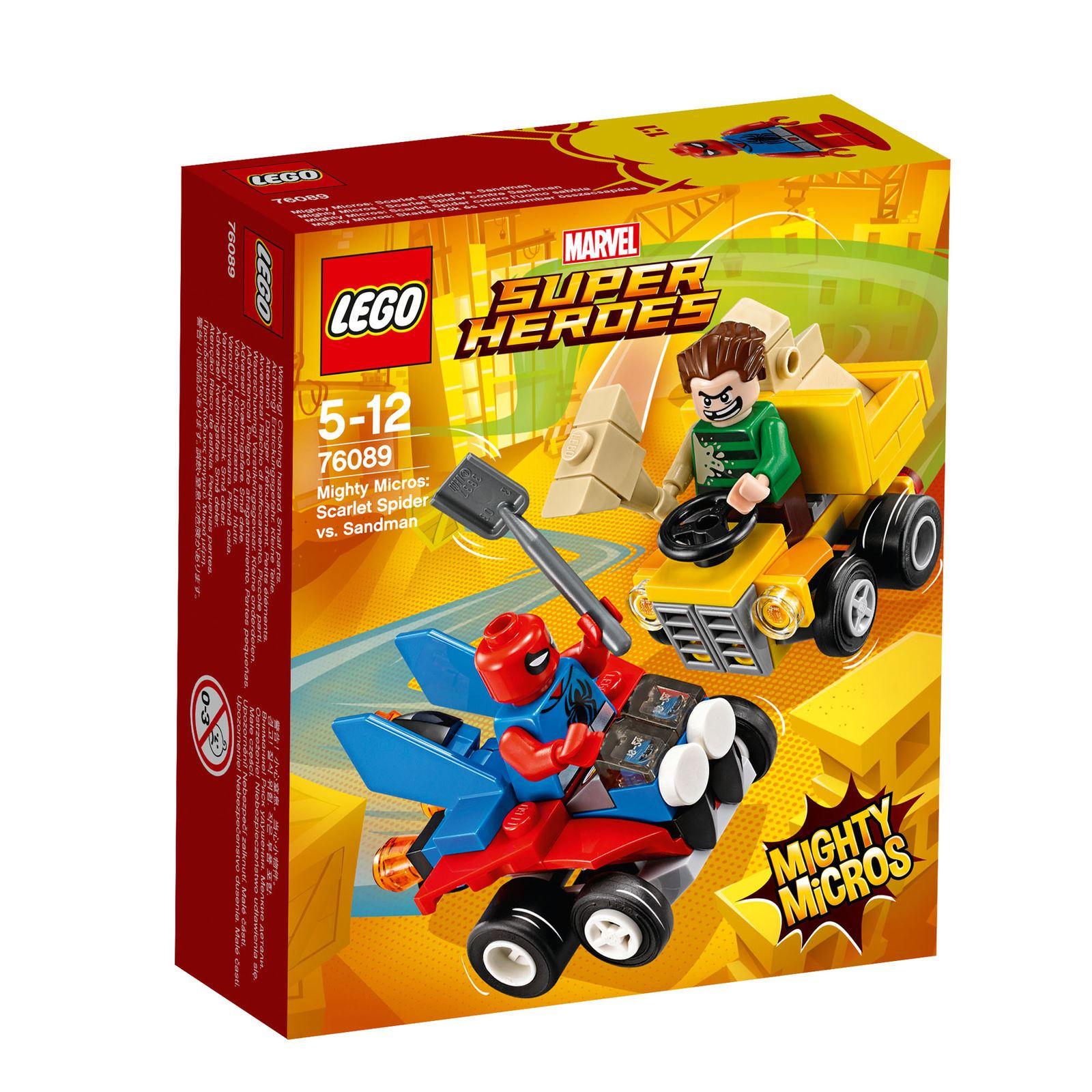 LEGO Marvel 76089 76089 76089  Super Heroes Mighty Micros  Scarlet Spider Vs. Sandman 89 Pcs 26c7c9