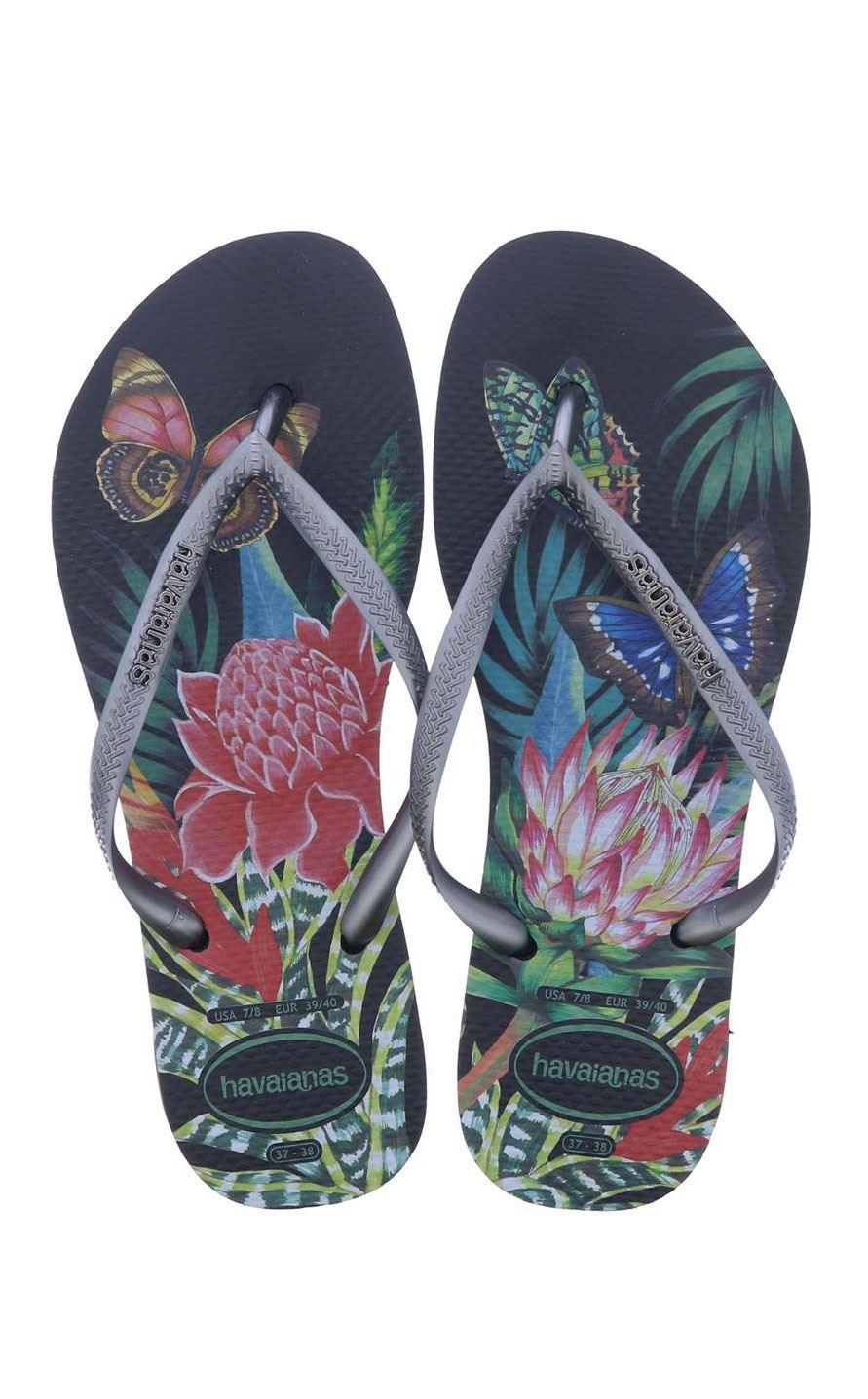 ae06730ba Havaianas Slim Women Tropical Blue Green Rose Black Ivory Flip Flops All  Sizes