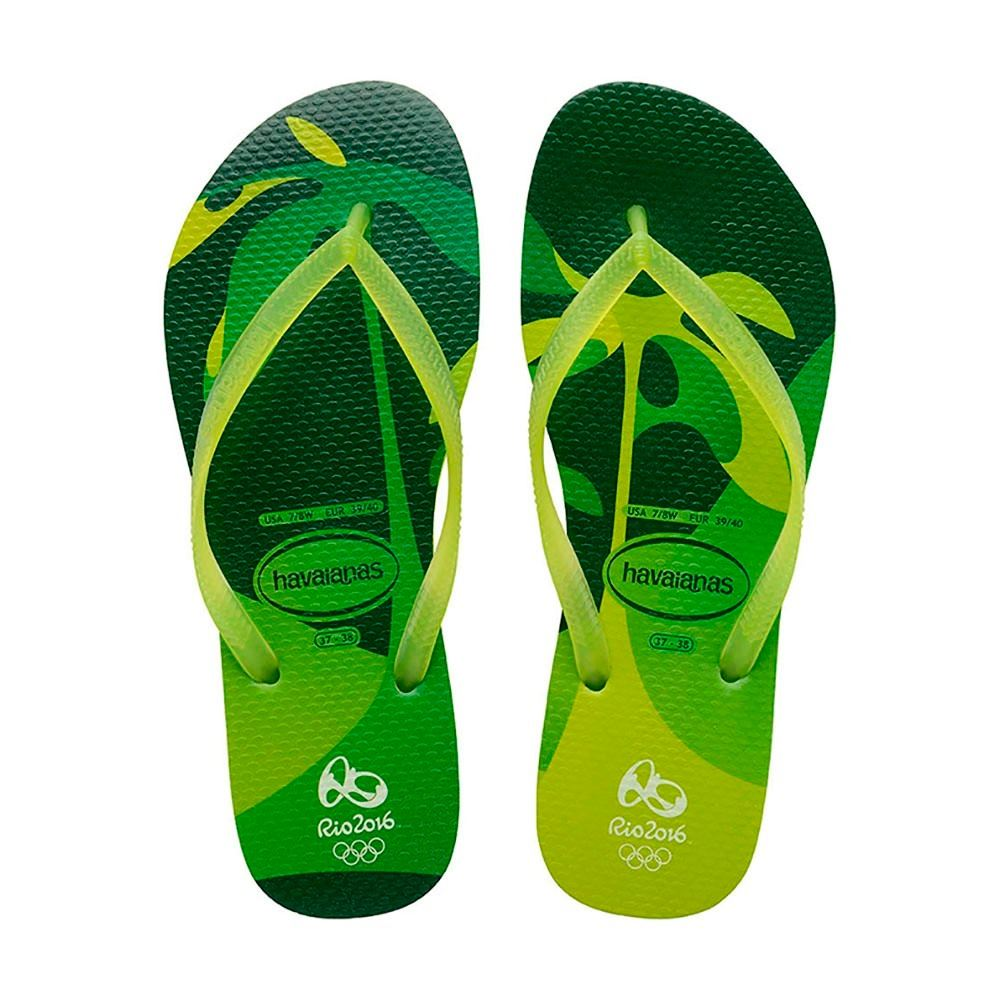 Havaianas Brazil Slim Carioca Rio 2016 Lemon Green Oliympic All Size ... 3c8b8420ee50
