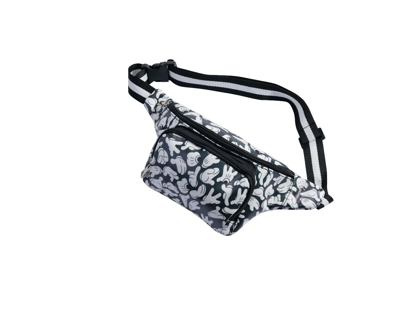 Black and White Travel Disney Classic Minnie Mouse Waist Pack Bum Bag