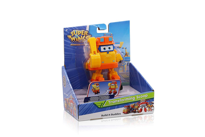 Super ailes Transforming Véhicule série 3 Scoop Plane Bot 5 in figure Kids Toy environ 12.70 cm