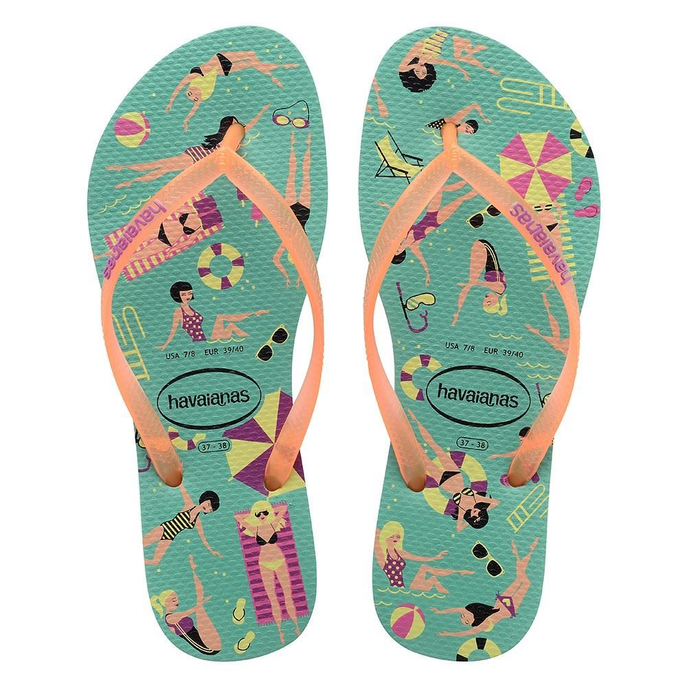havaianas slim rubber flip flops sandals women slim cool. Black Bedroom Furniture Sets. Home Design Ideas