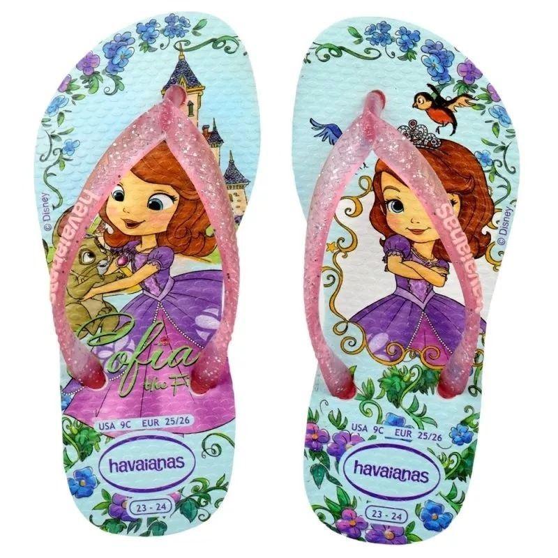 Havaianas Brazil Slim Girls Kids Purple Rubber Flip Flops All Sizes