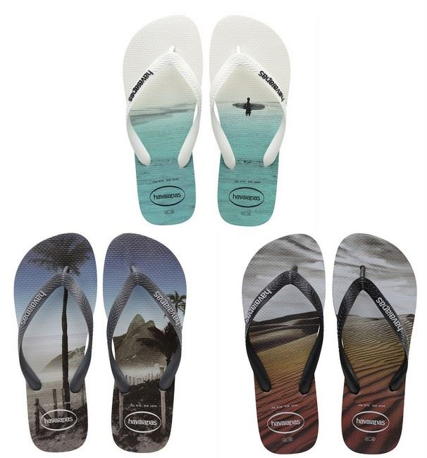 7a535c692 Havaianas Hype View Photo Print White Black Grey Men Flip Flops All ...