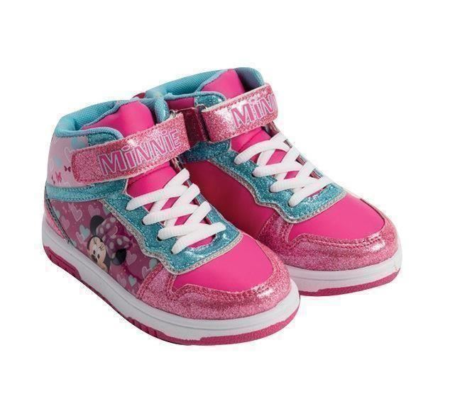 Details zu Disney Minnie Mouse Pink & Blue Trainers Sneakers Shoes Girls Eu Sizes