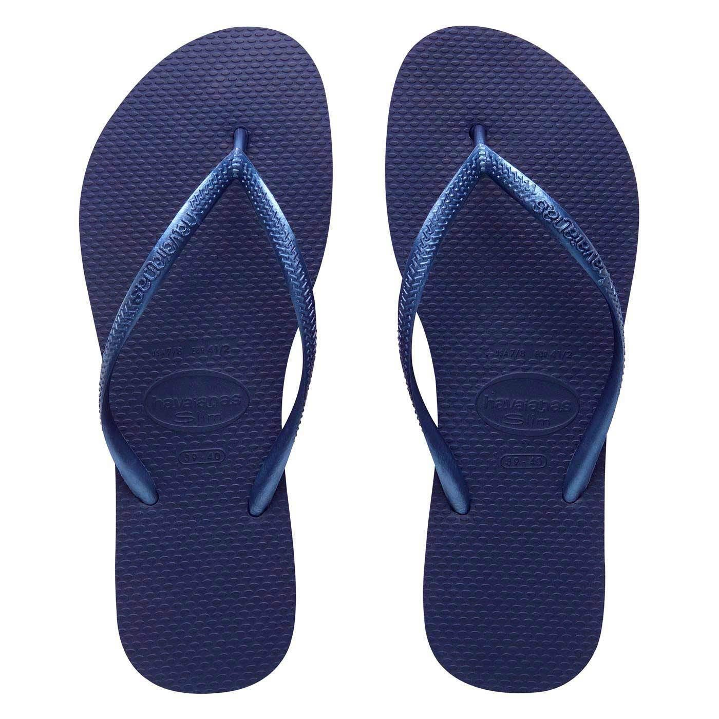795a1d40f95244 Havaianas Slim Brazil Women s Flip Flops Blue Brand new All sizes