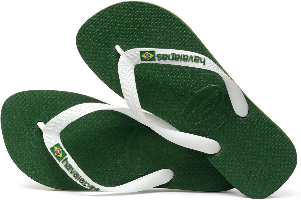 276866b911b3f Havaianas Men Brasil Logo Amazonia Green White Flip Flops