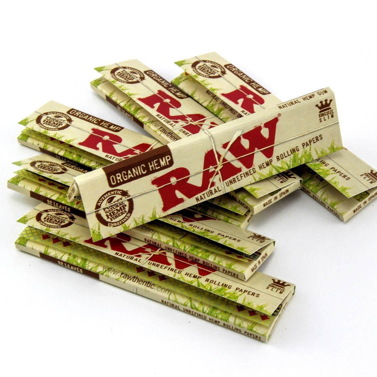 Raw Natural King Size Slim Organic Hemp Rolling Papers 50