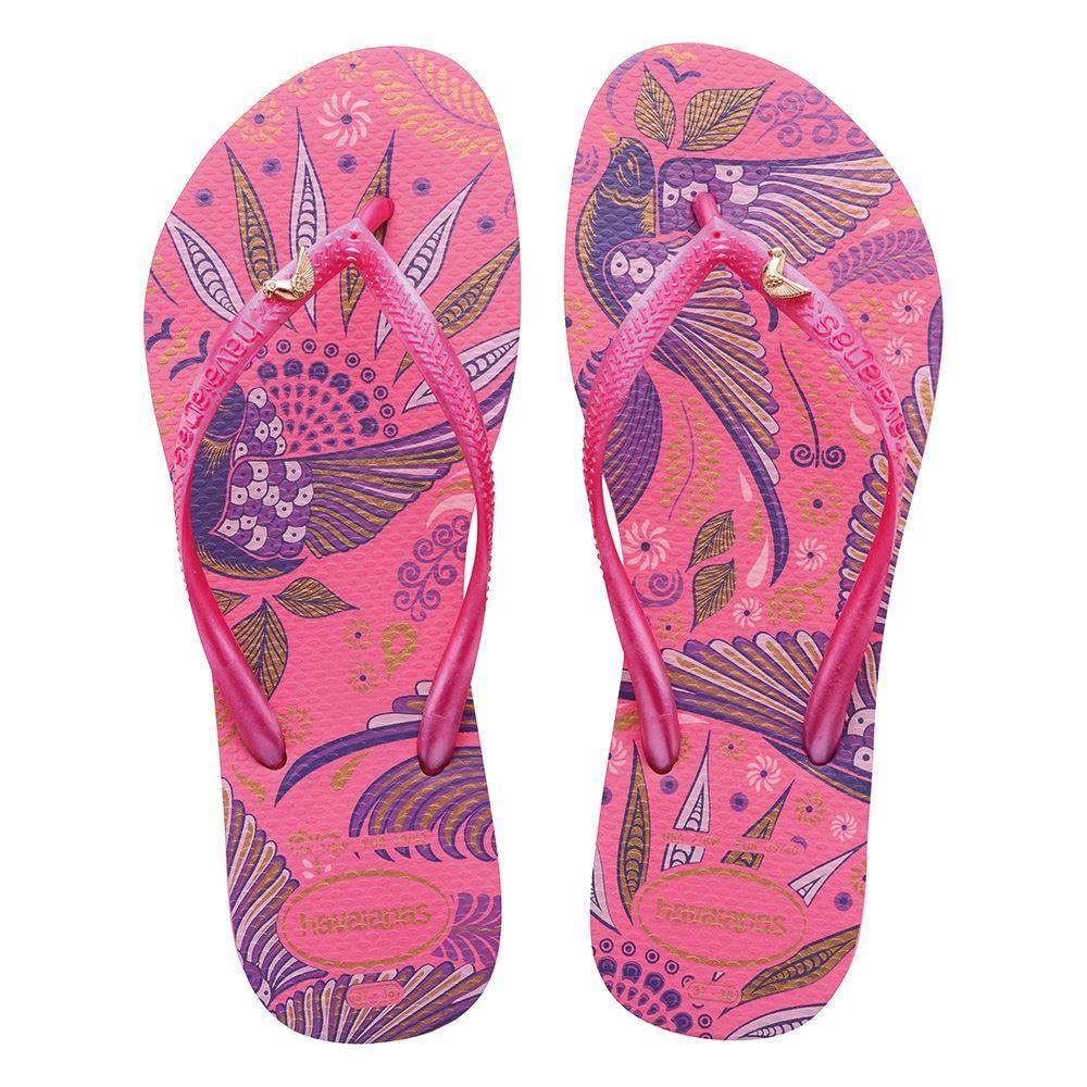 Havaianas-Brazil-Slim-Royal-Bird-039-s-Charm-Women-Sandal-Flip-Flops-All-Sizes