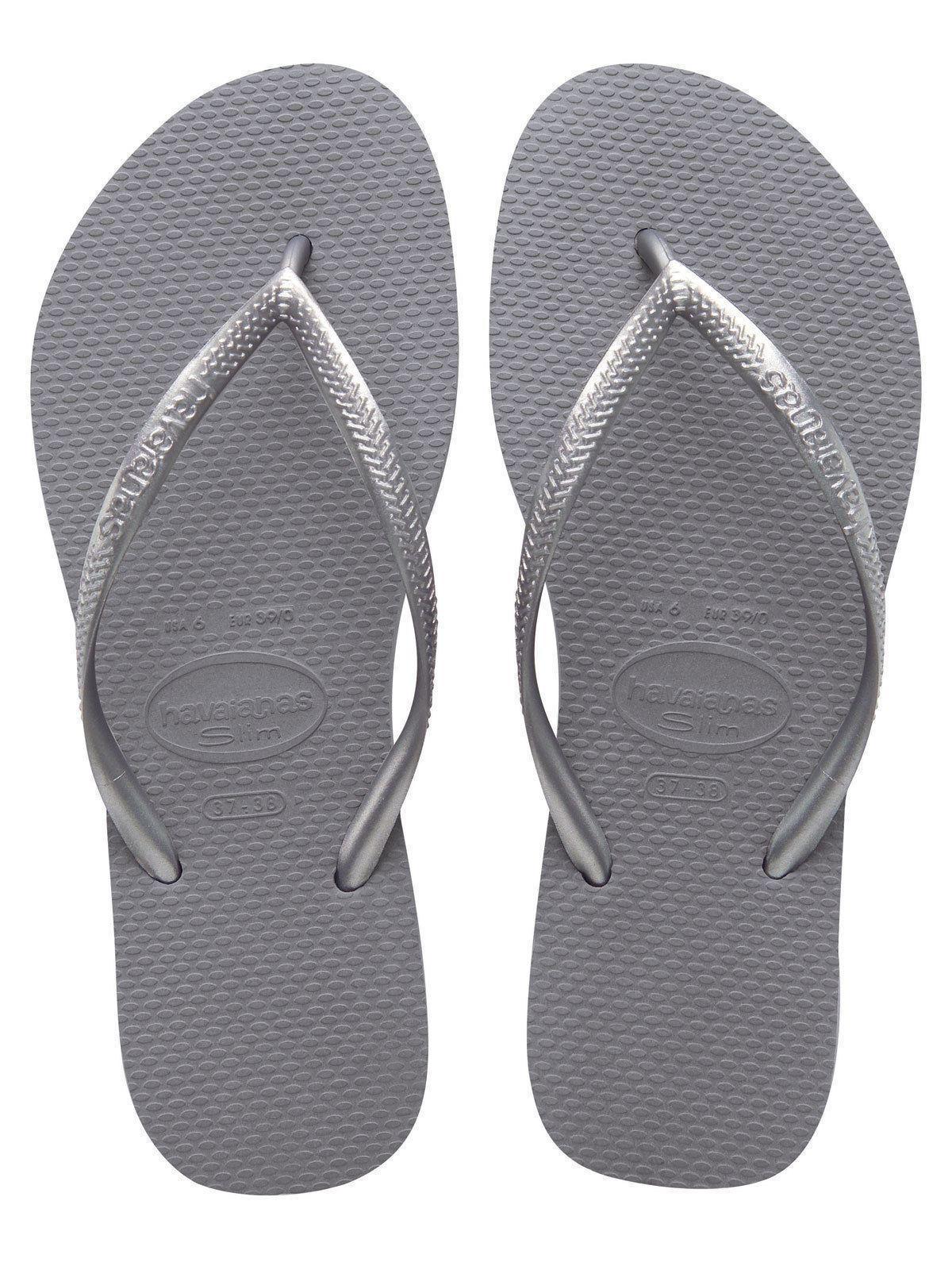 436b9ddcc54a29 Havaianas Slim Brazil Women s Flip Flops Steel Grey Size US-7 8 EUR-39 40