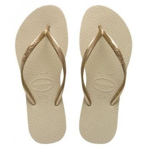 Havaianas Slim Brazil Women's Flip Flops All Sizes Gold,Black,Purple,White.  Picture 2 of 2