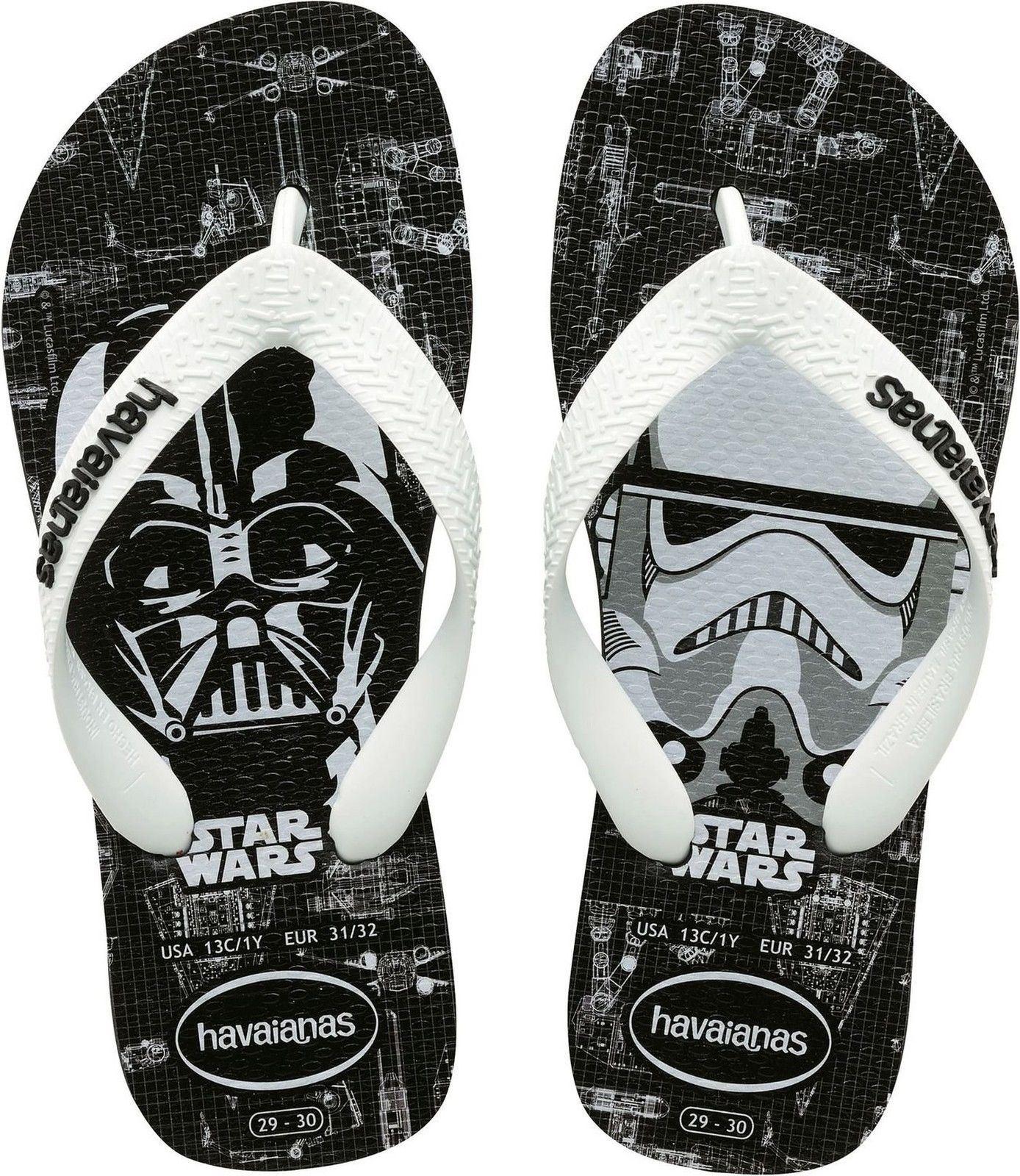 ea38de20a617ba Havaianas Genuine Men Youth Star Wars Rubber Slip On Flip Flop Black White