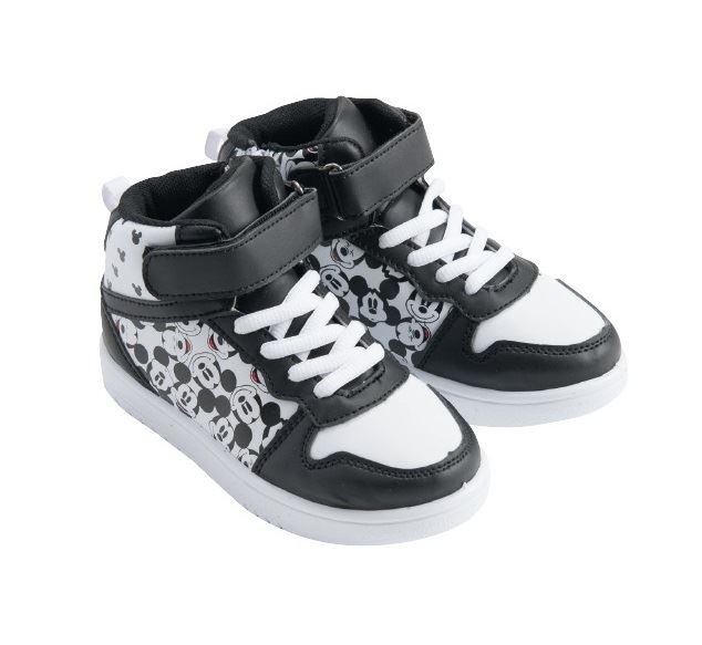 Disney Mickey Mouse Black /& White Trainers Sneakers Shoes Kids Eu Sizes