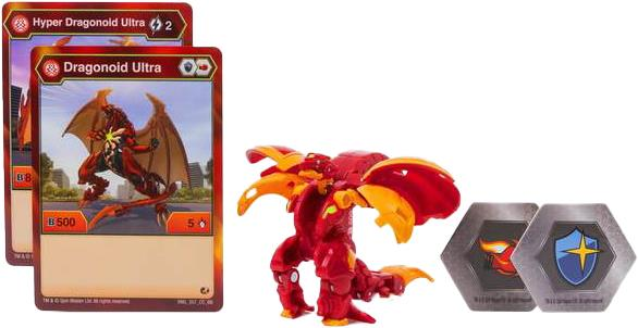 Bakugan Ultra Hyper Dragonoid Action Battle Brawlers 3 /'/' Transformers Figure