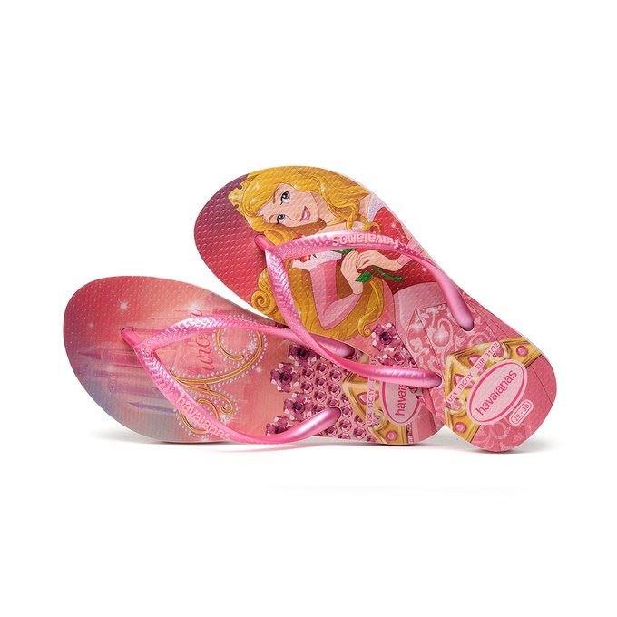 eda5efcc3 Havaianas Kids Slim Princess Aurora Pink Print Flip Flop Sandals All ...