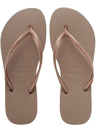 2e29801b9c018e Havaianas Slim Women s Flip Flops Beach Sandals All Size Black White ...