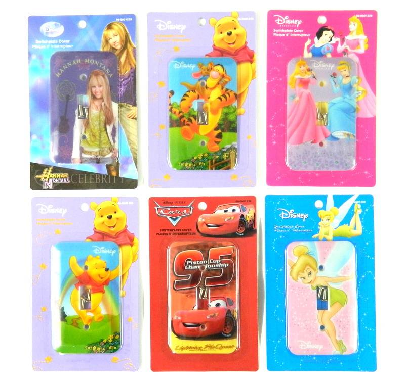 Wholesale 24 Single Disney Light Switch Plate Covers Cars Pooh