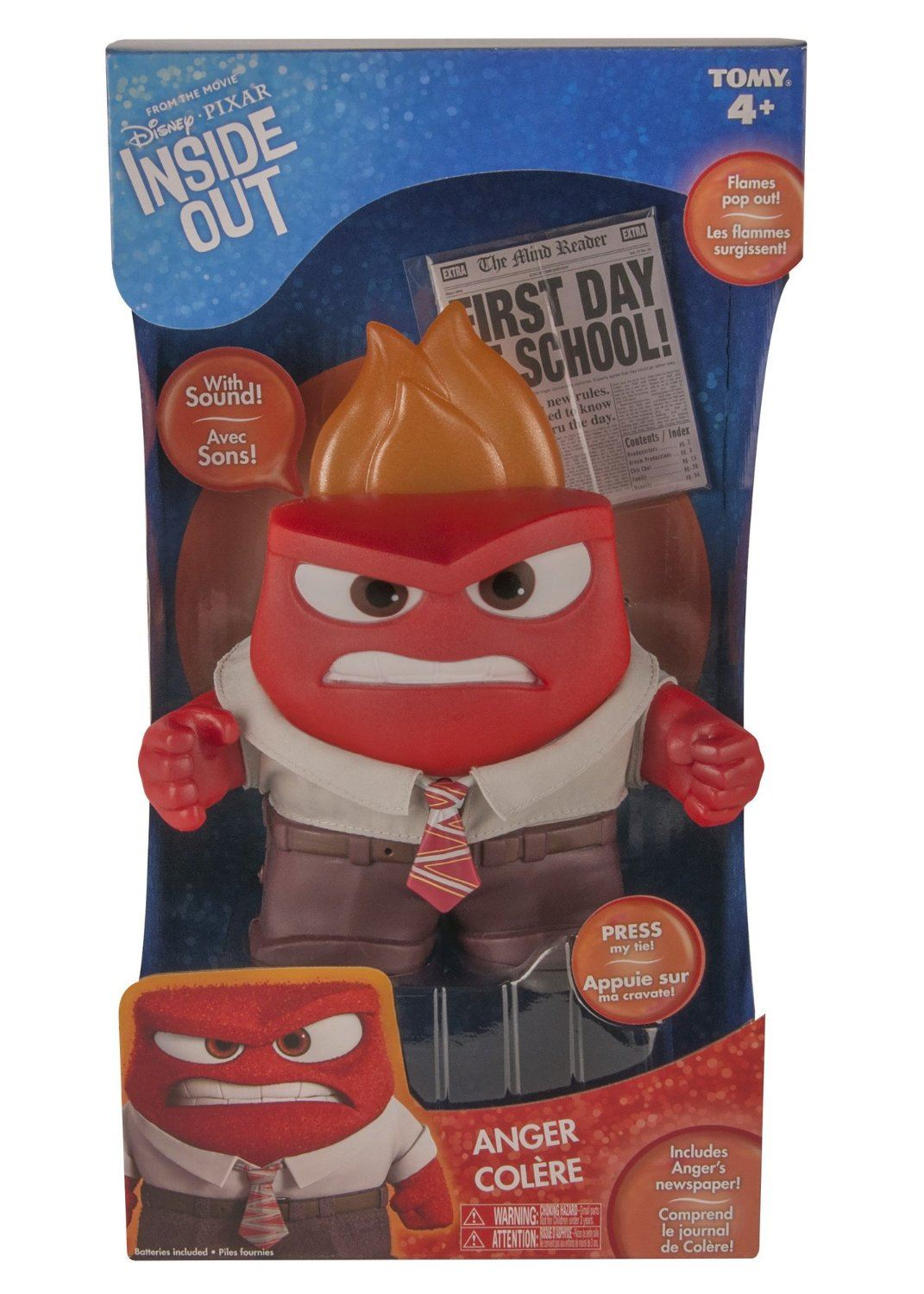 Disney Pixar Inside Out Large Figure Anger By Tomy