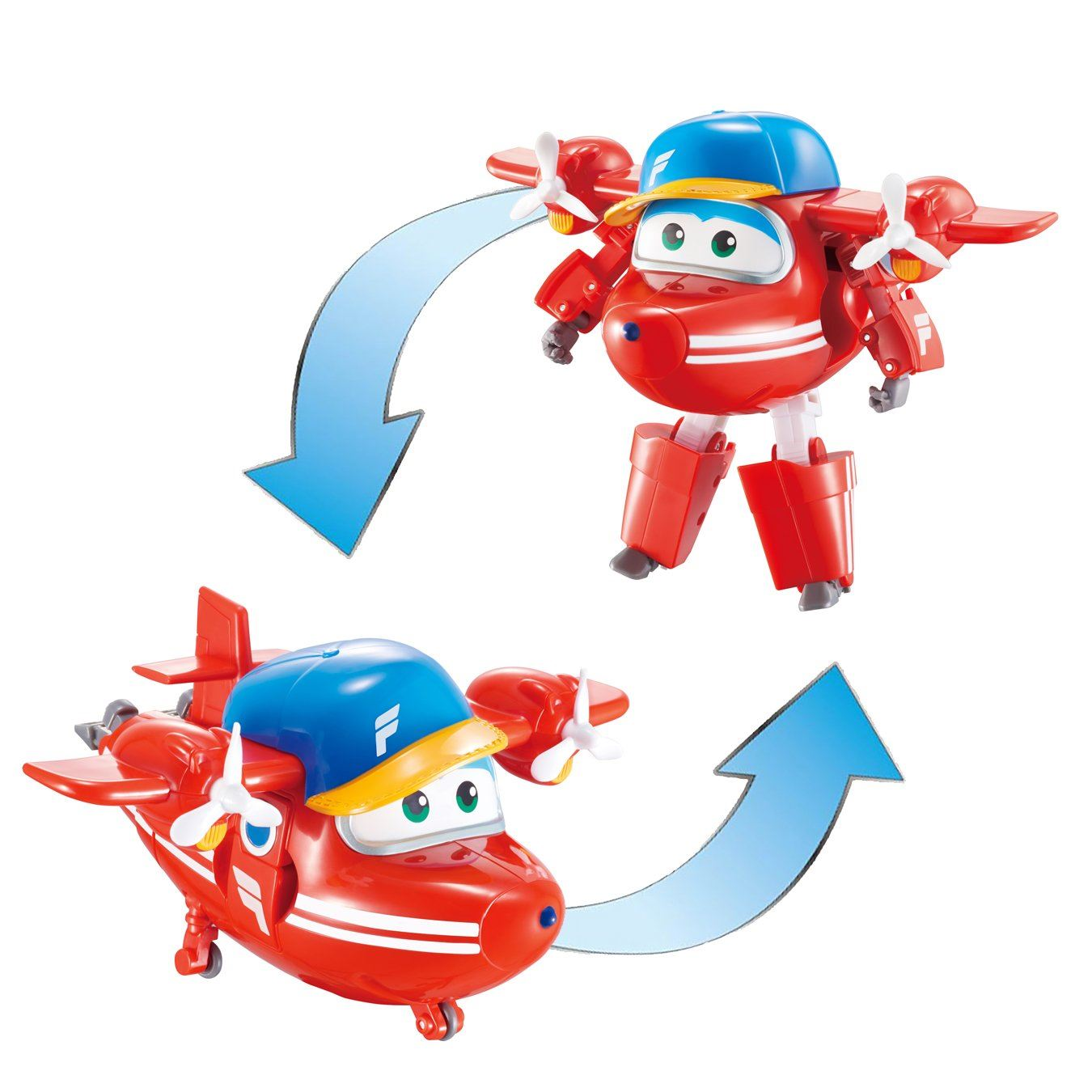 3 Super Wings Transforming Classic Jet Transform Plane To Bot Toy